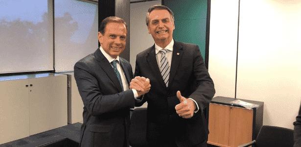 O governador de São Paulo, João Doria, e o presidente da República, Jair Bolsonaro - Divulgação/Assessoria João Doria