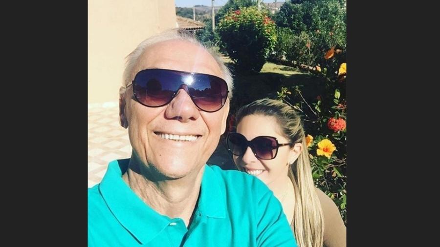 Marcelo Rezende, 65, e sua última parceira, Luciana Lacerda, 51 anos - Reprodução/Instagram