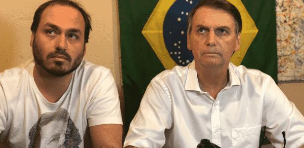 Carlos e Jair Bolsonaro - Arquivo Pessoal/Reprodução/Instagram