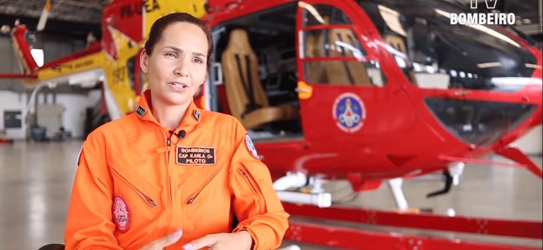 A major Karla Lessa - Reprodução/TV Bombeiro