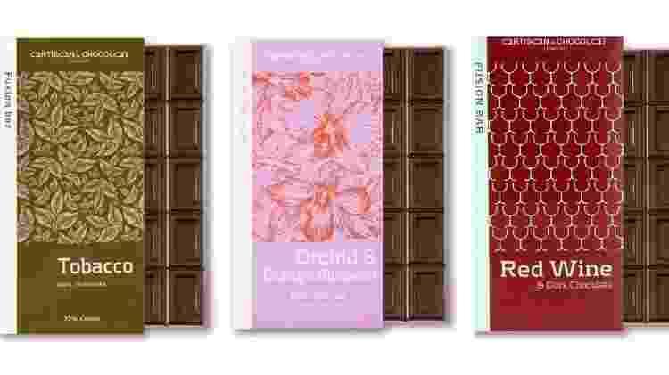 Chocolates com especiarias, flores e vinho - Divulgação - Divulgação