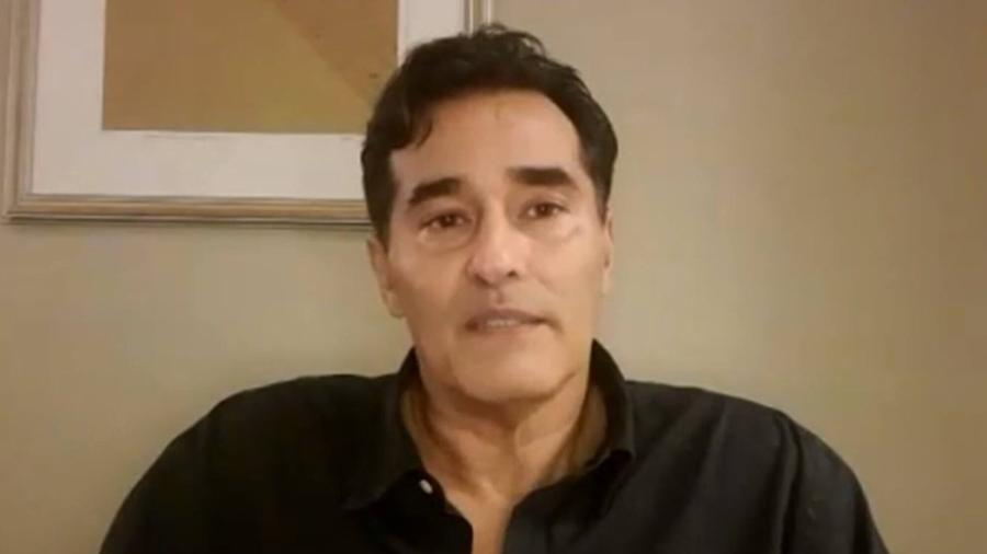 Luciano Szafir passou mais de um mês internado com complicações da covid-19 - Reprodução/TV Globo