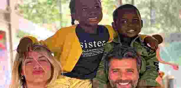 Bruno Gagliasso, Giovanna Ewbank e os filhos Titi e Bless - Reprodução/ Instagram