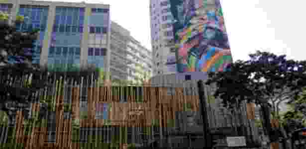 Fachada da Japan House, projeto do arquiteto Kengo Kuma, no início da avenida Paulista - Nelson Antoine/Folhapress - Nelson Antoine/Folhapress