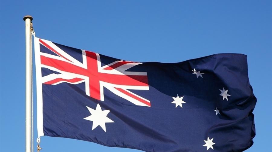Imagem de arquivo da bandeira da Austrália; A China determinou sanções econômicas para uma série de produtos australianos - Shutterstock