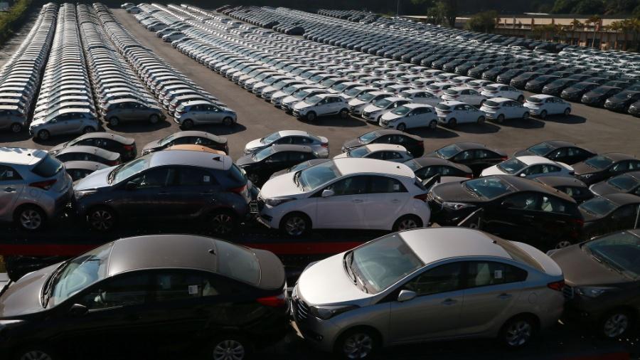 Pátio com veículos da montadora Hyundai, em São Paulo - Jorge Araujo/Folhapress