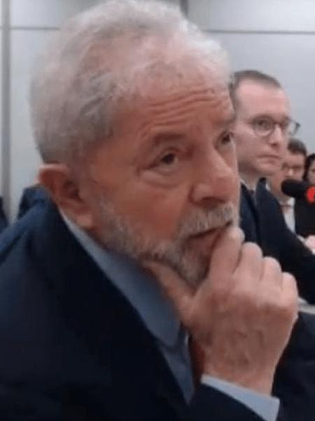Lula em interrogatório conduzido pelo ex-juiz Sergio Moro - Reprodução
