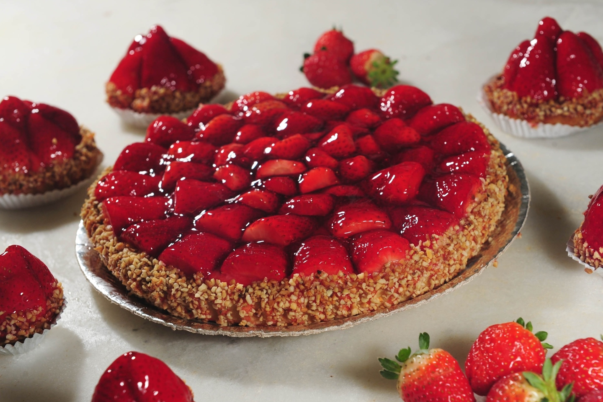 Resultado de imagem para Torta de morango