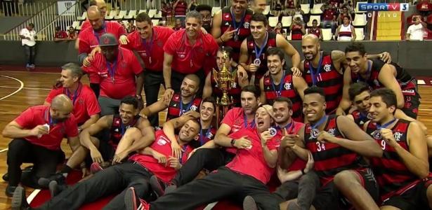 Flamengo foi campeão carioca de basquete após W.O. do Vasco na final - Reprodução/Sportv