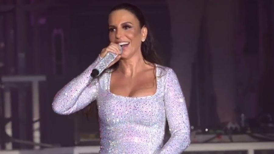 Ivete Sangalo mostra barriga durante a sua apresentação no Rock in Rio 2017 - Reprodução/Multishow