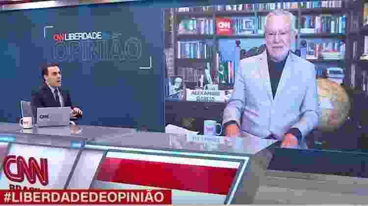 Rafael Colombo discute com Alexandre Garcia, ao vivo, na CNN, em junho de 2021 - Reprodução/CNN - Reprodução/CNN