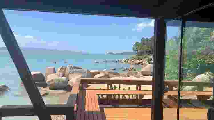 Deck da propriedade no litoral de Santa Catarina - Divulgação - Divulgação