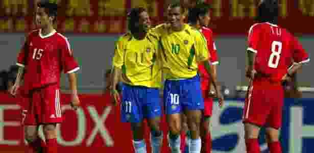 Ronaldinho Gaúcho e Rivaldo - Juca Varella/Folha Imagem - Juca Varella/Folha Imagem