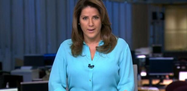 Christiane volta à bancada de um telejornal no dia 29 de fevereiro - Reprodução/TV Globo