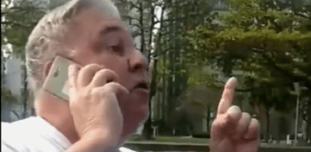 Homem se revoltou com guarda ao ser abordado por não usar máscara; ele se apresentou como desembargador - Reprodução/Twitter