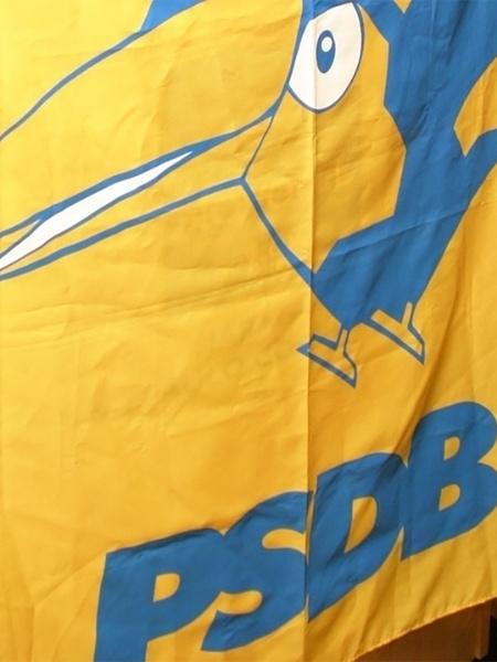 Mídia Indoor, PSDB. bandeira, logo, sede, política, eleições, Brasil; tucano; símbolo; partido; oposição; governo - JB Neto/Folha Imagem