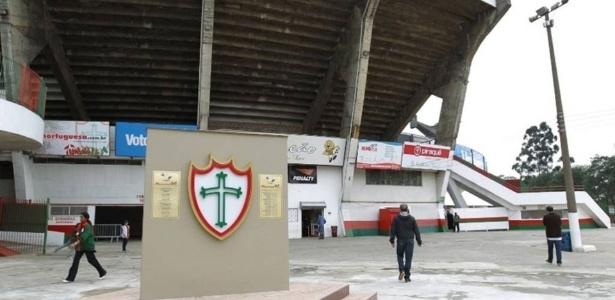 Vista parcial do Canindé: interdição, leilão, morte e rebaixamento assombram estádio da Portuguesa na zona norte de São Paulo.