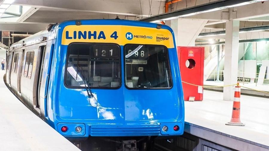 Trem da linha 4 do metrô do Rio de Janeiro - Kaptimagem/Divulgação