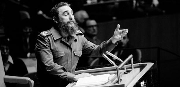 Fidel Castro durante discurso na ONU - Reprodução/ONU