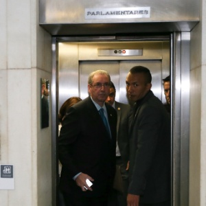 O presidente da Câmara dos Deputados, Eduardo Cunha (PMDB-RJ), chega ao Congresso Nacional