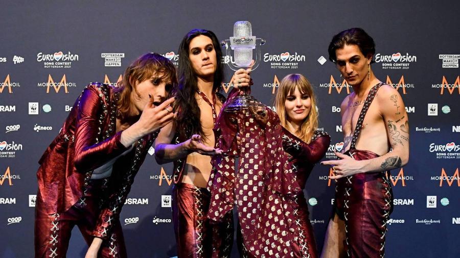 Banda Maneskin, da Itália, venceu a edição de 2021 do festival Eurovision - Piroschka van de Wouw - 22.mai.2021/Reuters