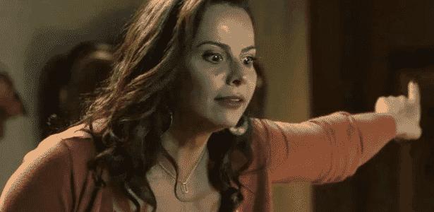 O Sétimo Guardião: Após descobrir que León está vivo, Neide pressiona Judith pela verdade - Reprodução