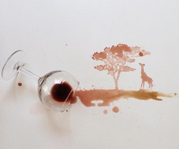 Fotos da artista italiana Giulia Bernardelli - Comida como tinta
