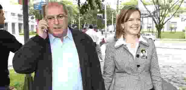 O ex-ministro Paulo Bernardo e a senadora Gleisi Hoffmann são investigados pela Lava Jato - Franklin de Freitas/Folhapress