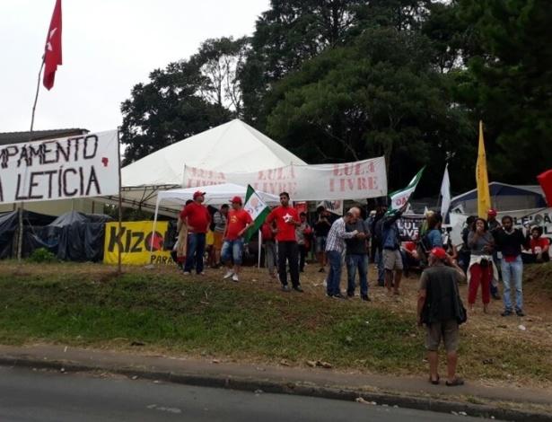Acampamento Marisa Letícia, em Curitiba, alvo de ataque a tiros na madrugada - Divulgação