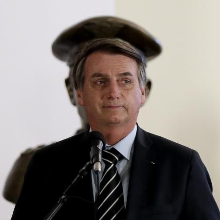 O presidente Jair Bolsonaro durante discurso. Militares são a única categoria que deve ser contemplada este ano com reajuste - Pedro Ladeira/Folhapress