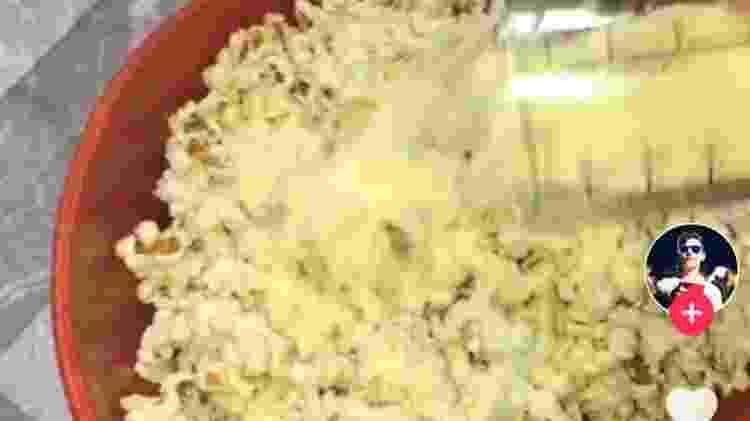 Pipoca com leite em pó - Reprodução/TikTok - Reprodução/TikTok