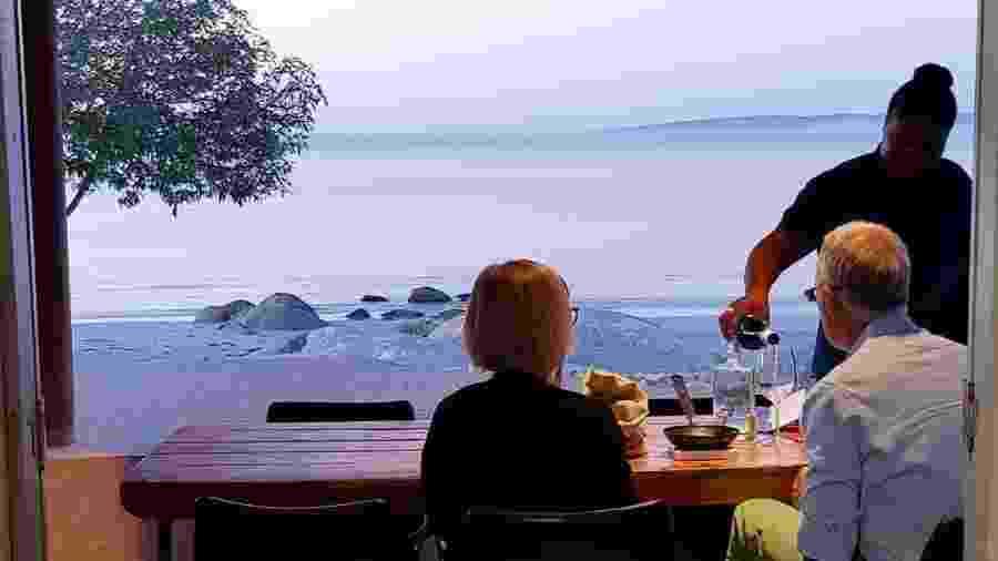 Vista do restaurante Wolfgat, na África do Sul - Reprodução/Instagram