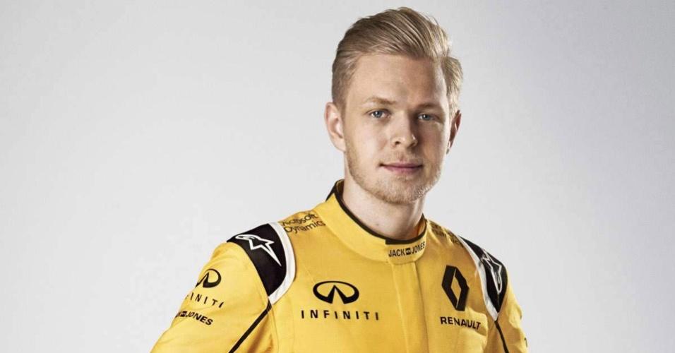 Kevin Magnussen, piloto da Renault na Formula 1