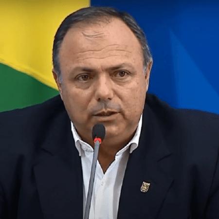 O ministro interino da Saúde, general Eduardo Pazuello - Reprodução/YouTube