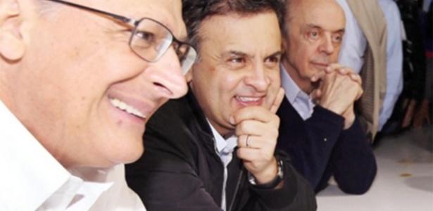 Alckmin (à esq.), Aécio (centro) e Serra são cotados para disputar a Presidência em 2018