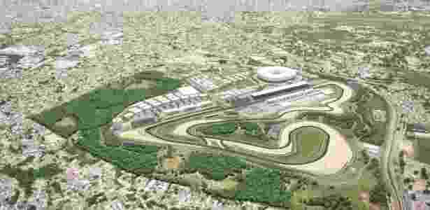 Projeto do Autódromo na região de Deodoro, no Rio de Janeiro - Divulgação