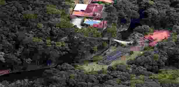 Sítio Santa Barbara, em Atibaia, cuja propriedade é atribuída ao ex-presidente Lula. Ele nega a informação - Jefferson Coppola/Revista Veja