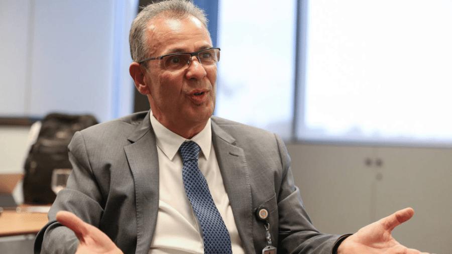 Ministro de Minas e Energia, Bento Albuquerque, durante entrevista em dezembro de 2018 - Pedro Ladeira/Folhapress