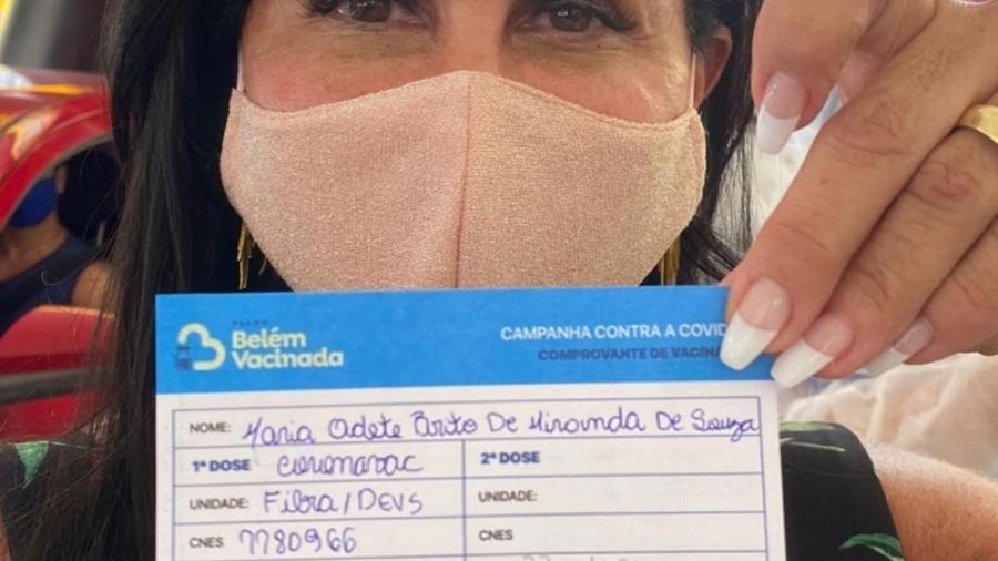 Gretchen é vacinada contra covid - Reprodução/Instagram