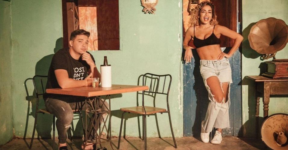 Juntos em Fortaleza, Wesley Safadão e Anitta gravam clipe de