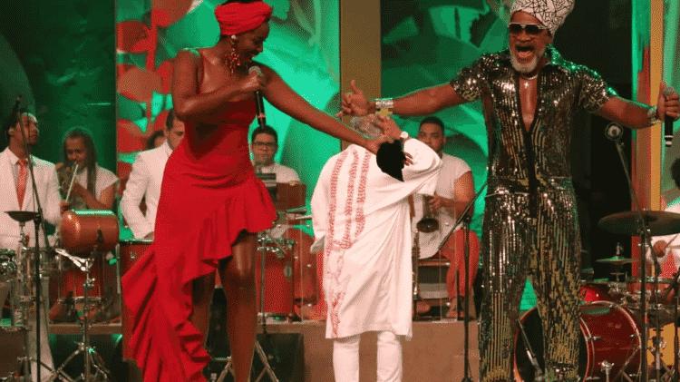 Iza e Carlinhos Brown no show Devassa Enconstros Tropicais - Divulgação/Fred Pontes - Divulgação/Fred Pontes