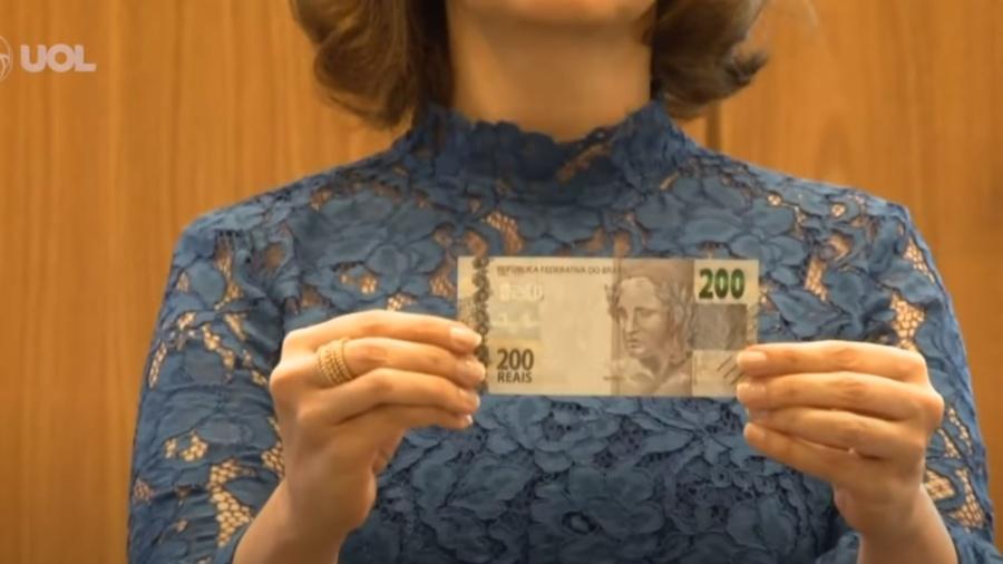 Ao lançar a nota no passado, o BC informou que seriam produzidas 450 milhões de cédulas - Reprodução/YouTube