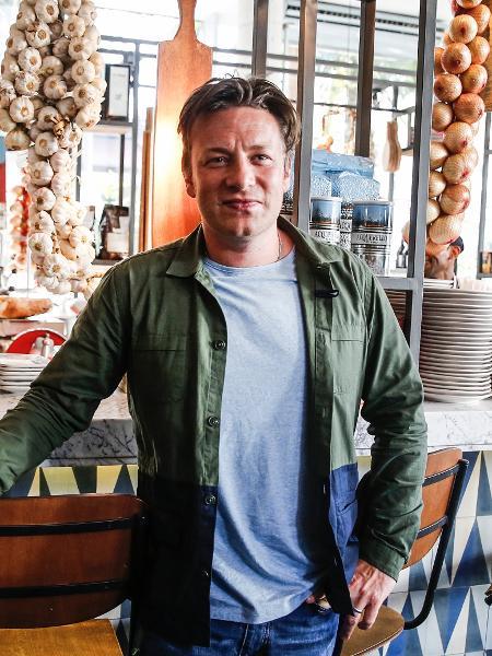 Chef Jamie Oliver durante visita a seu restaurante em São Paulo em 2016 - Lucas Lima/UOL