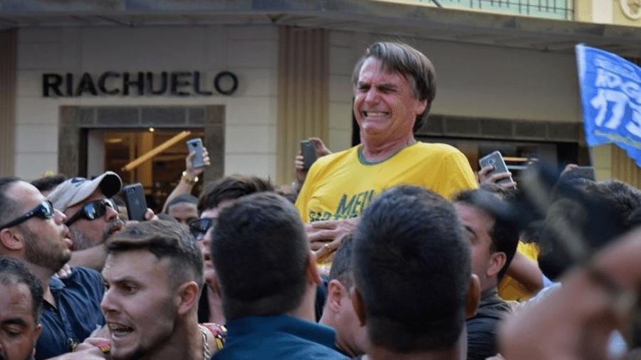 Bolsonaro foi esfaqueado por Adélio Bispo, em Juiz de Fora, durante a campanha presidencial - Getty Images
