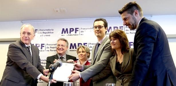 Cerimônia na sede do MPF, no PR, marcou a devolução de R$ 204 milhões à Petrobras