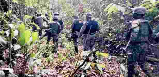 Integrantes das Forças Armadas participam de ação conjunta com o Ibama na Amazônia - Arquivo Pessoal