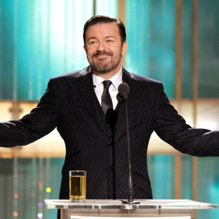 Humorista britânico Ricky Gervais apresenta o Globo de Ouro em 2011 - Paul Drinkwater/Reuters