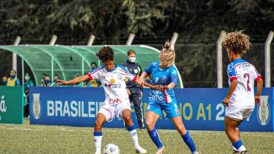 Bahia e Napoli no Brasileirão Feminino: clubes cobram melhora de transmissão no Mycujoo e plataforma quer apenas mulheres - Reprodução/Twitter