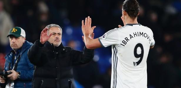Ibrahimovic e Mourinho estiveram juntos na última temporada