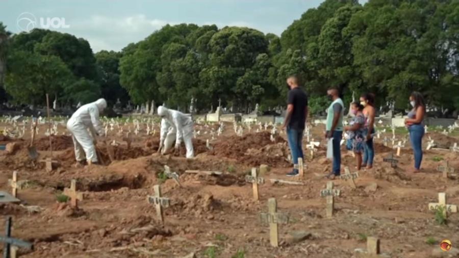 Covid-19 é a principal causa responsável pelo aumento de mortes no Brasil em 2020 - Reprodução